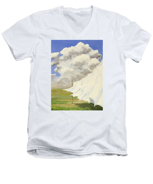 Three Sheets To The Wind Men's V-Neck T-Shirt by Jack Malloch