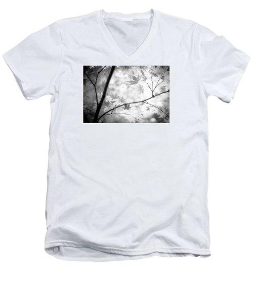Through The Leaves Men's V-Neck T-Shirt by Darryl Dalton