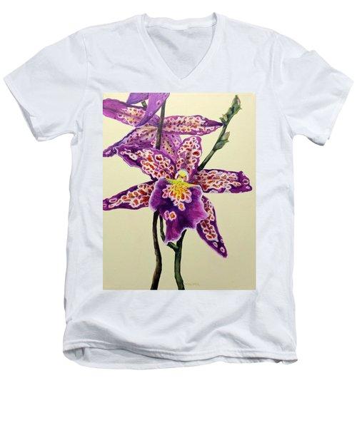 Tiger Orchid Men's V-Neck T-Shirt