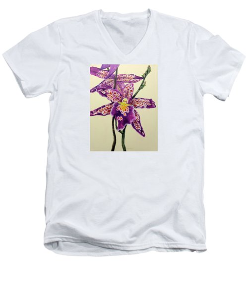 Tiger Orchid Men's V-Neck T-Shirt