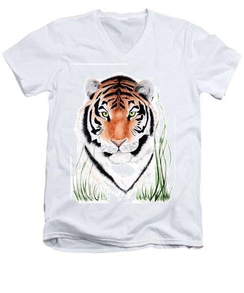Tiger Tiger Where Men's V-Neck T-Shirt