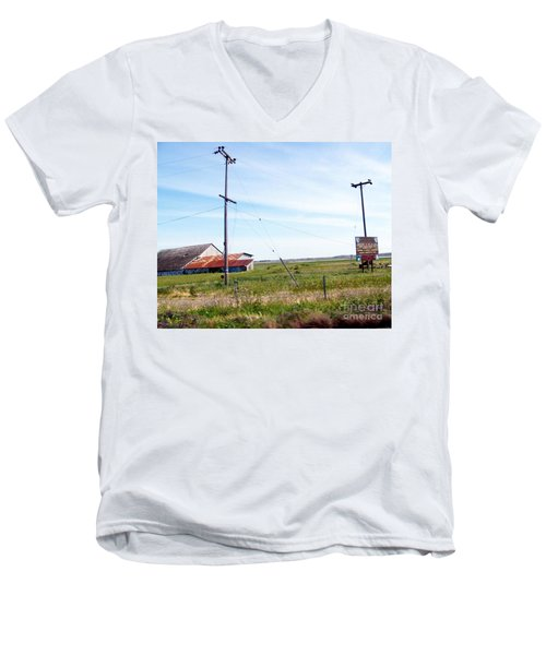 Men's V-Neck T-Shirt featuring the photograph Time Passed By by Bobbee Rickard