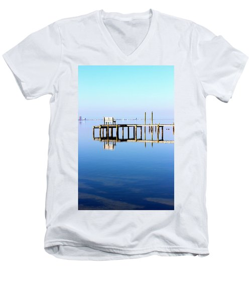 Time To Reflect Men's V-Neck T-Shirt by Faith Williams