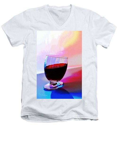 Men's V-Neck T-Shirt featuring the photograph Tipsy by Ludwig Keck