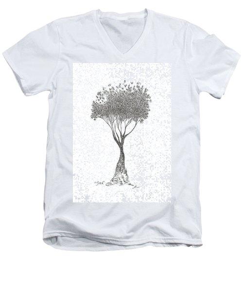 Tired Men's V-Neck T-Shirt