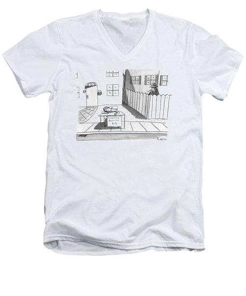 Title: Conspiracy Theories $10 A Boy Is Slumped Men's V-Neck T-Shirt
