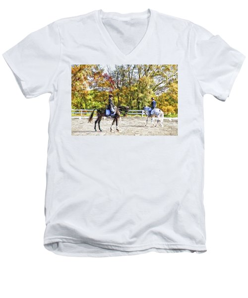 Men's V-Neck T-Shirt featuring the photograph To A Halt by Alice Gipson