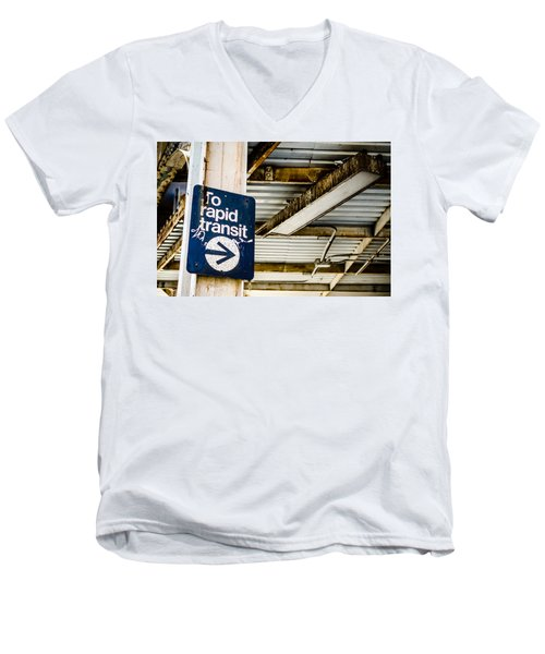 To Rapid Transit Men's V-Neck T-Shirt