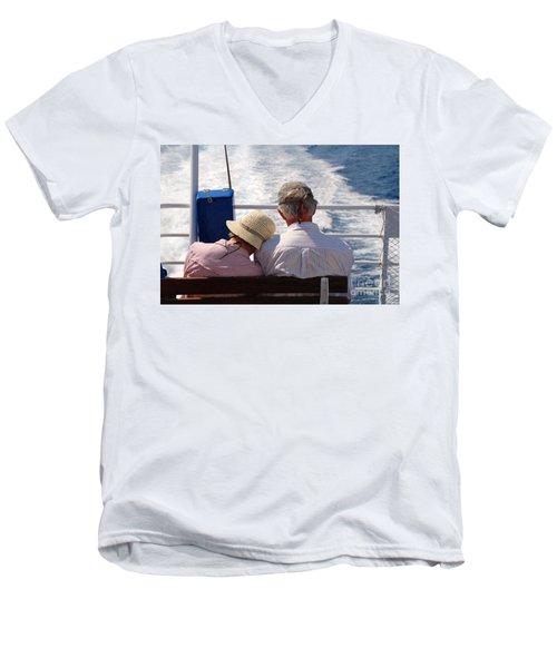 Together In Greece Men's V-Neck T-Shirt