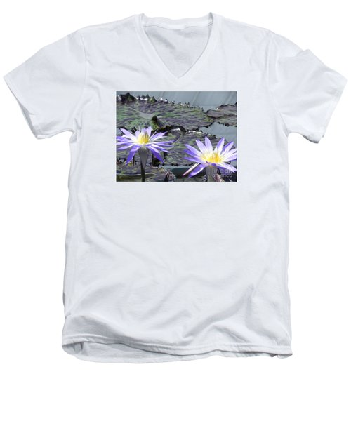 Men's V-Neck T-Shirt featuring the photograph Together Is Beauty by Chrisann Ellis
