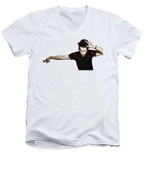 Tom Waits Artwork  4 Men's V-Neck T-Shirt