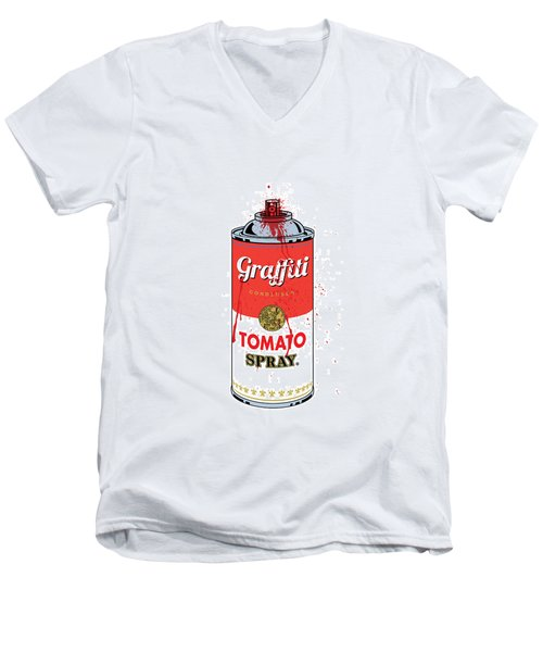 Tomato Spray Can Men's V-Neck T-Shirt
