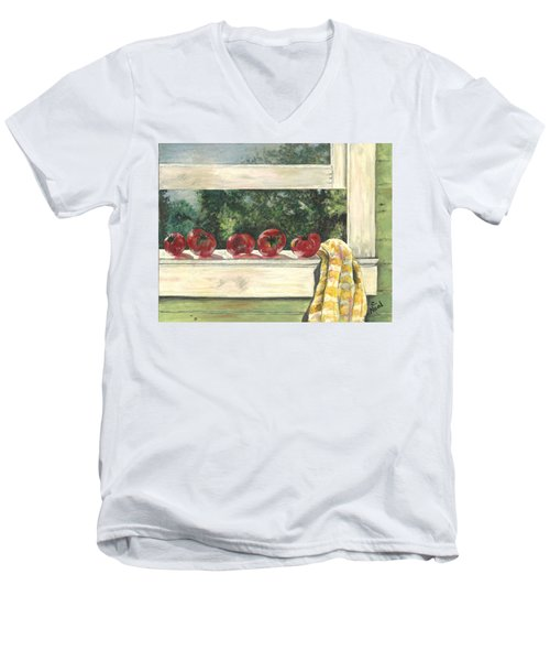 Tomatoes On The Sill Men's V-Neck T-Shirt