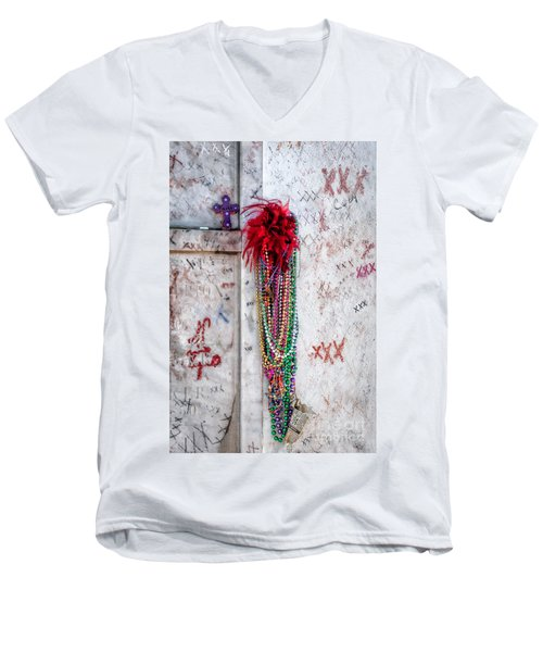 Tomb Of Marie Laveau New Orleans Men's V-Neck T-Shirt by Kathleen K Parker