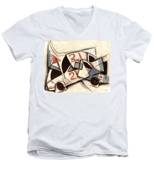 Tommervik Cubism Race Car  Men's V-Neck T-Shirt