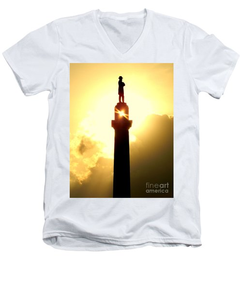 General Robert E. Lee And The Summer Solstice In New Orleans Men's V-Neck T-Shirt by Michael Hoard