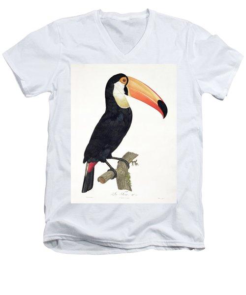 Toucan Men's V-Neck T-Shirt by Jacques Barraband