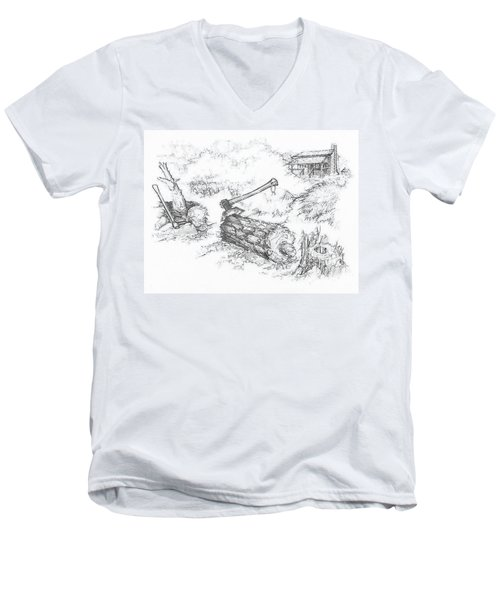 Trail Divides Men's V-Neck T-Shirt