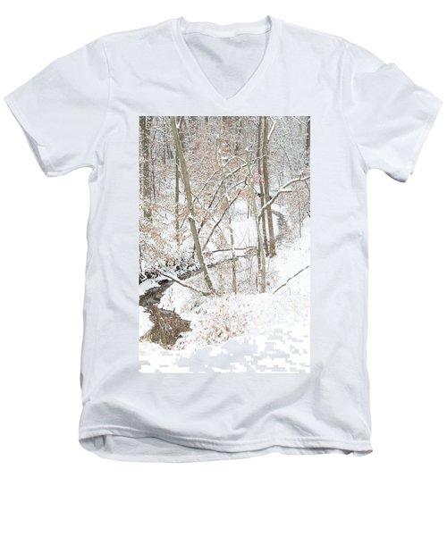 Tranquil Winters Creek Men's V-Neck T-Shirt