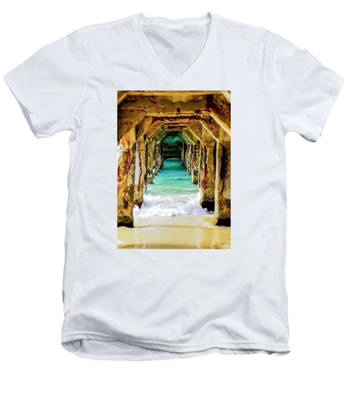 Tranquility Below Men's V-Neck T-Shirt by Karen Wiles
