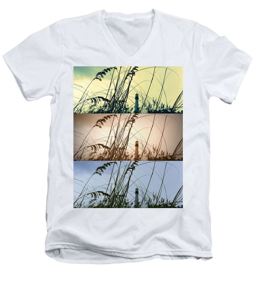 Transitions Men's V-Neck T-Shirt by Laurie Perry