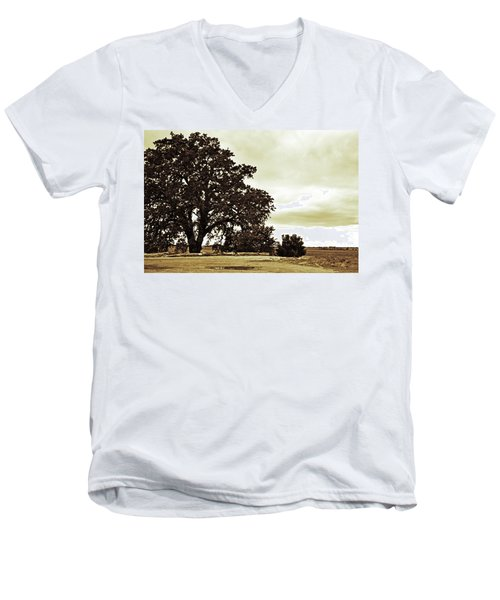 Tree At End Of Runway Men's V-Neck T-Shirt