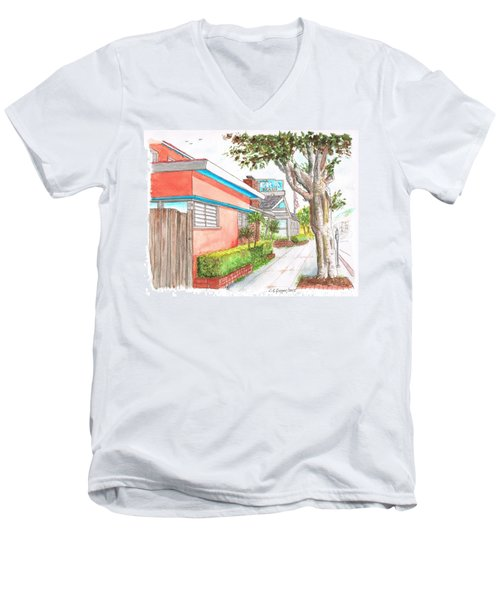 Tree In Laguna Riviera Hotel In Laguna Beach - California Men's V-Neck T-Shirt