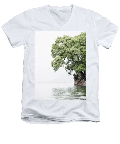 Tree Next To A Lake Men's V-Neck T-Shirt
