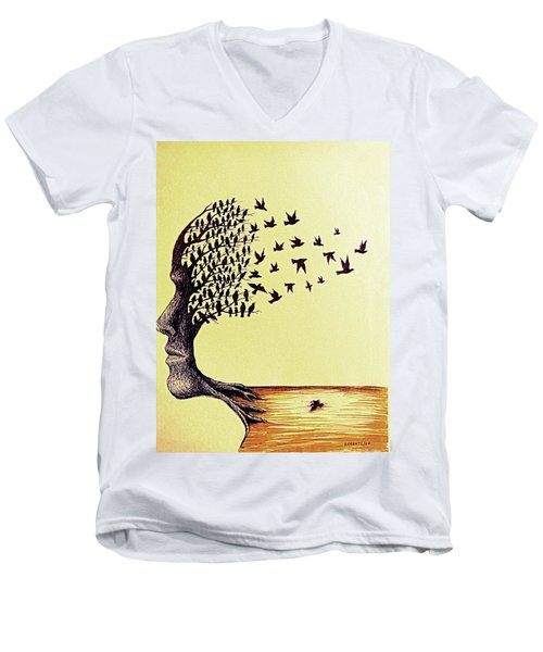Tree Of Dreams Men's V-Neck T-Shirt by Paulo Zerbato