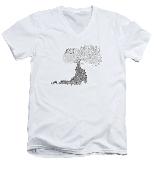 Tree Of Uncertainty Men's V-Neck T-Shirt