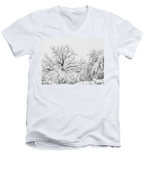 Tree Snow Men's V-Neck T-Shirt