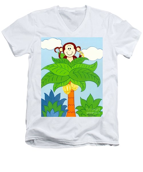 Tree Top Monkey Men's V-Neck T-Shirt