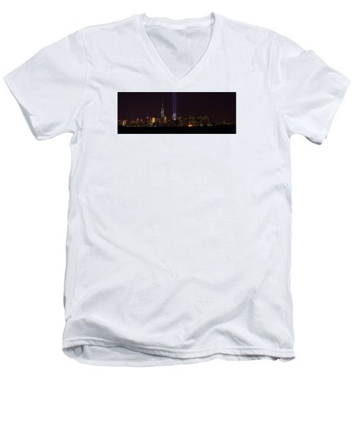 Tribute In Light 9.11 Men's V-Neck T-Shirt by Kenneth Cole