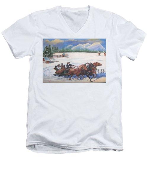 Troika Men's V-Neck T-Shirt by Catherine Swerediuk