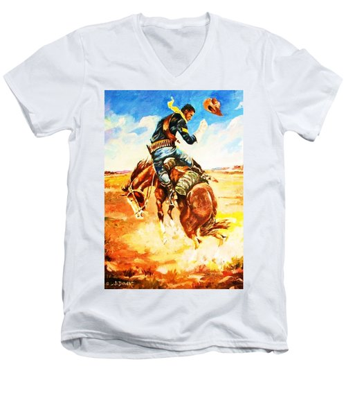 Trooper On A Skiddish Mount Men's V-Neck T-Shirt
