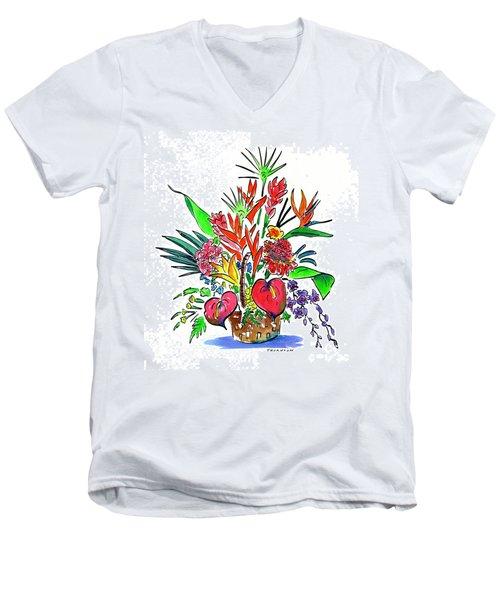 Tropical Basket Men's V-Neck T-Shirt