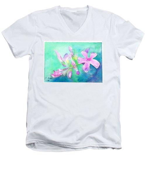 Tropical Flowers Men's V-Neck T-Shirt by C Sitton