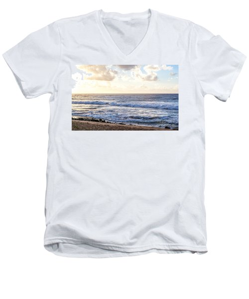 Men's V-Neck T-Shirt featuring the photograph Tropical Morning  by Roselynne Broussard