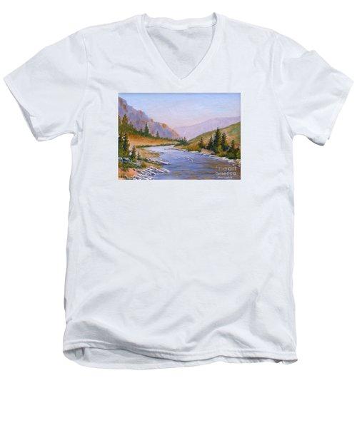 Trout Stream Men's V-Neck T-Shirt