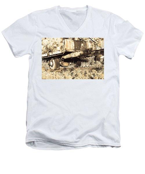Truck Wreckage II Men's V-Neck T-Shirt