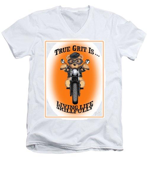 True Grit Men's V-Neck T-Shirt