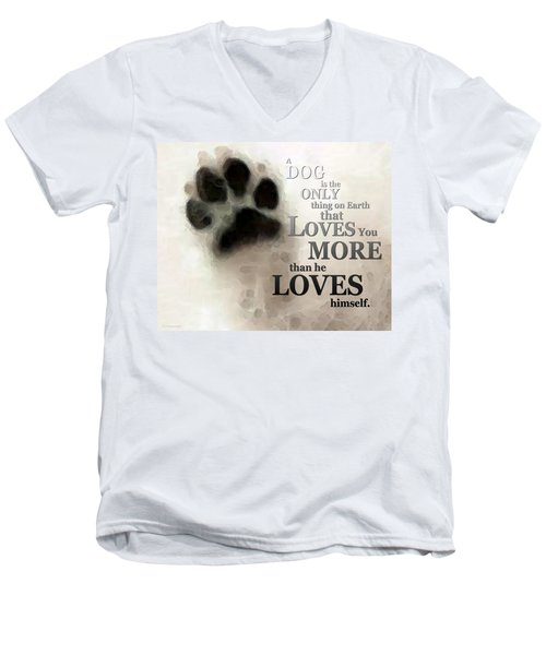 True Love - By Sharon Cummings Words By Billings Men's V-Neck T-Shirt