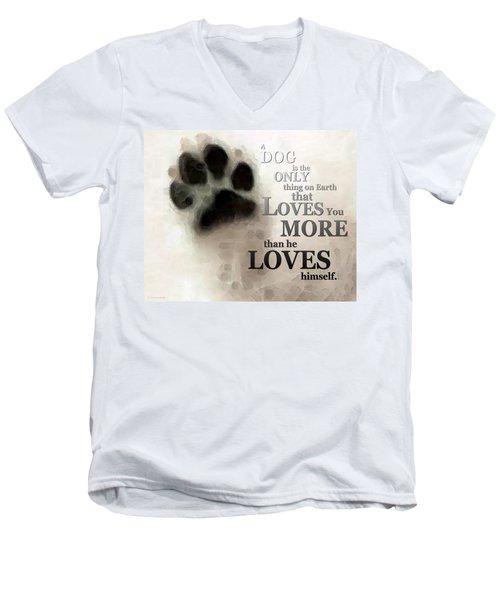 True Love - By Sharon Cummings Words By Billings Men's V-Neck T-Shirt