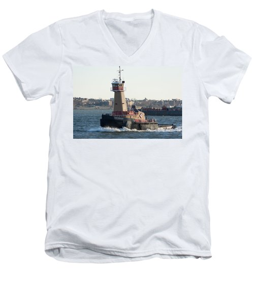 Tugboat Dace Reinauer Men's V-Neck T-Shirt by Kenneth Cole