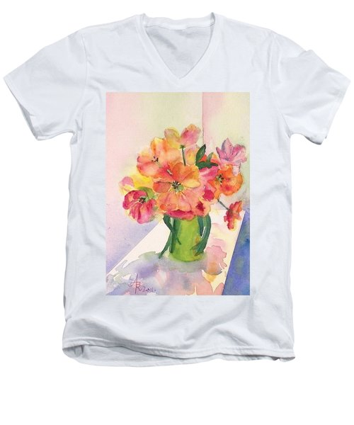 Tulips For Mother's Day Men's V-Neck T-Shirt