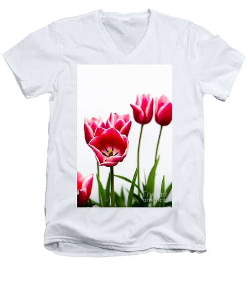 Tulips Say Hello Men's V-Neck T-Shirt