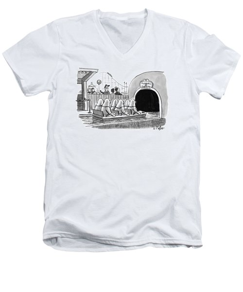 Tunnel Of Safety Men's V-Neck T-Shirt