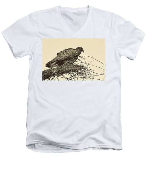 Turkey Vulture V2 Men's V-Neck T-Shirt by Douglas Barnard
