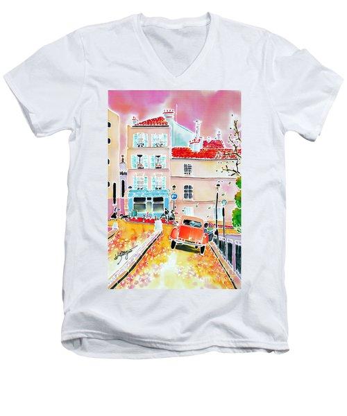 Twilight Montmartre Men's V-Neck T-Shirt