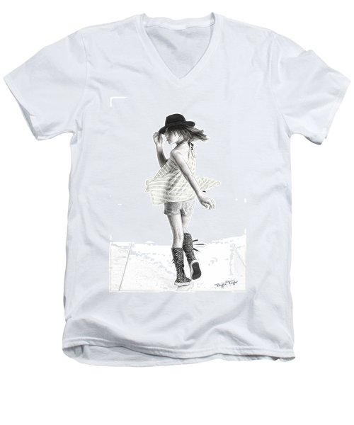 Twirl Men's V-Neck T-Shirt